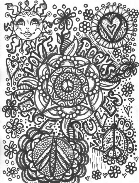 images  hippie art peace signs coloring pages  adults  pinterest coloring