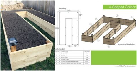 how to build a u shaped raised garden bed how to