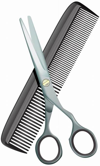 Comb Scissors Clip Clipart Barber Shears Hairdresser