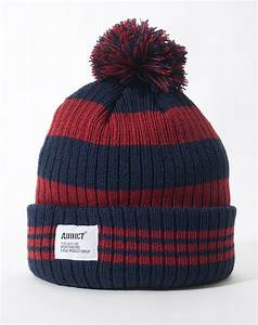 Addict Mens Winter Ski Hat Beanie Bobble Stripe Various ...