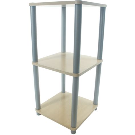 Free Standing Cabinet Shelves by Three Tier Contemporary Free Standing Shelf In Free