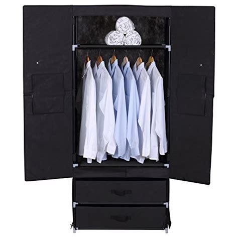 Heavy Duty Wardrobe Closet by Woltu Portable Clothes Closet Wardrobe With 2 Drawer