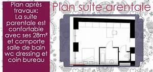 suite parentale avec salle de bain et dressing With plan de suite parentale avec salle de bain et dressing