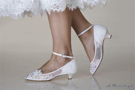 Scarpe da sposa tutto deve essere perfetto. scarpe da sposa tacco basso 3 cm ricamate in pizzo ...
