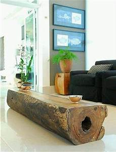 45 amazing ideas with recycled tree trunks diy to make With coffee table made from tree trunk
