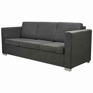 Couch 3 Sitzer Günstig : vidaxl 3 sitzer sofa stoff dunkelgrau g nstig kaufen ~ Bigdaddyawards.com Haus und Dekorationen