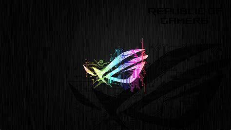 asus rog neon logo  wallpapers hd wallpapers id
