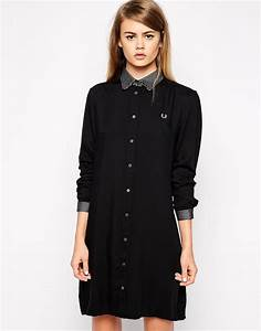 fred perry robe chemise a manches longues fred perry With robe fred perry