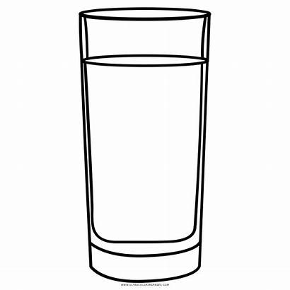 Water Colorare Drawing Acqua Coloring Bicchiere Disegni