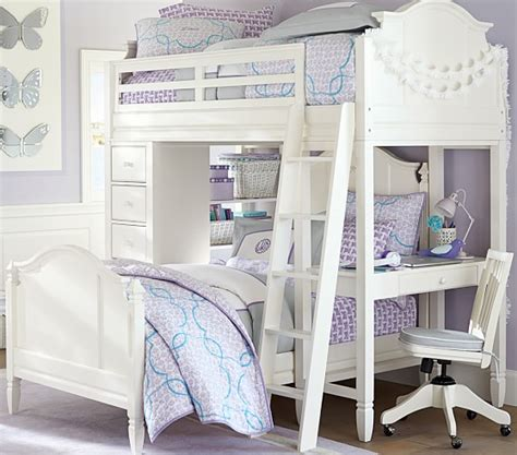 pottery barn loft bed with desk really amazing and cool pottery barn kids loft bed with