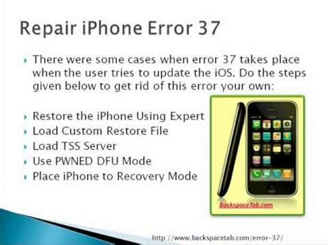 how to fix a iphone how to fix iphone error 37