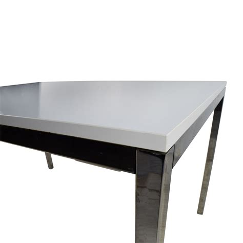 Ikea Küchenplaner Chrome by 57 Ikea Ikea White Top Dining Table With Silver