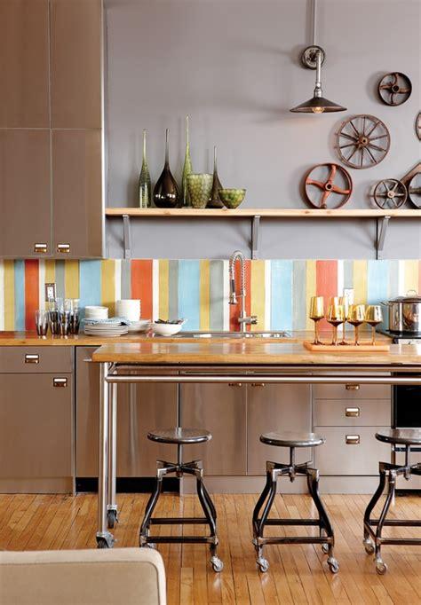 colorful backsplash tiles  kitchens homesfeed