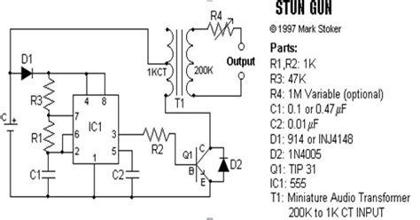rangkaian alat kejut listrik sederhana elektronika industri