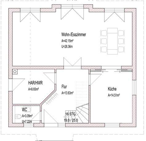 grundriss fuer einfamilienhaus moderner hausbau ohne