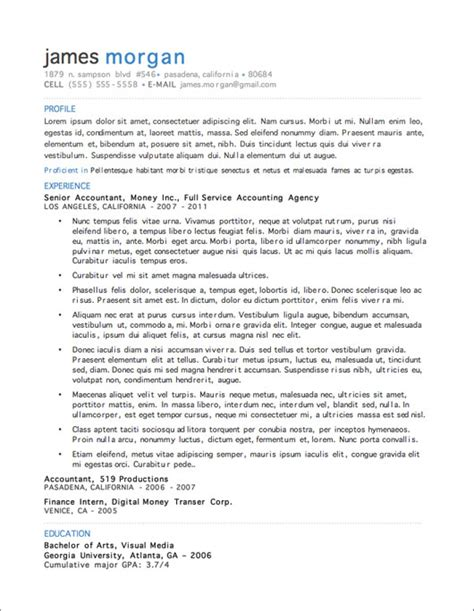 resume template free 12 resume templates for microsoft word free primer
