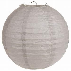 Boule Papier Deco : boule lanterne chinoise en papier 50cm taupe deco salle mariage badaboum ~ Teatrodelosmanantiales.com Idées de Décoration