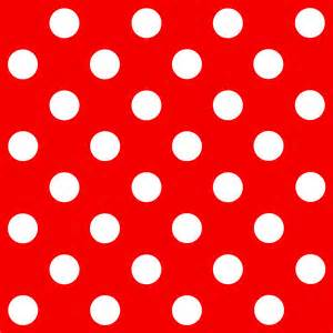 Red and White Polka Dot Background Free