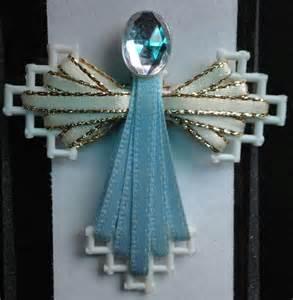 Plastic Canvas Ribbon Angel Pattern