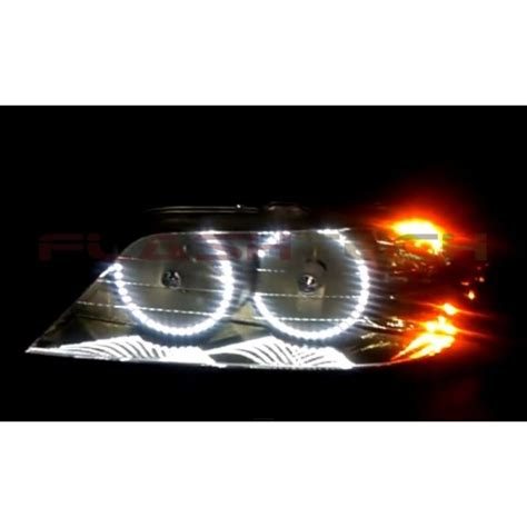 lincoln town car white led halo headlight kit
