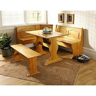 corner nook kitchen table with storage essential home 3 emily breakfast nook in pine 9467