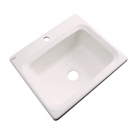 acrylic kitchen sink thermocast rochester drop in acrylic 25 in 1 single 1153
