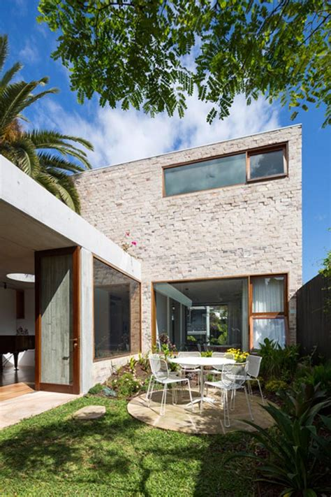 Steel Concrete And Home With Central Courtyard by Outdoor Dining Sydney House Encloses A Garden Courtyard