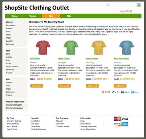 Shopsite Templates by Shopsite Built In Ship Shape Template