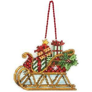 sleigh christmas tree ornament counted cross stitch kit ebay