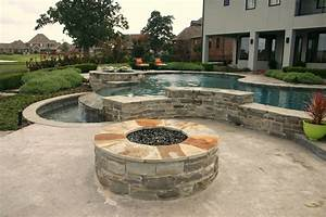 Custom L Shape Fire Pit Chris Jensen Landscaping In Salt