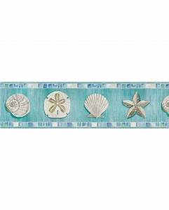 On Sale NOW! 32% Off Ocean Mosaic Seashell Wallpaper Border