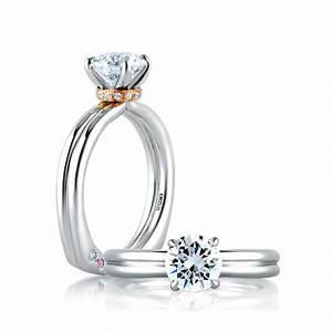 a jaffe golden single collar solitaire engagement ring With single solitaire wedding rings
