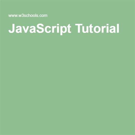 javascript tutorial front end tutorials