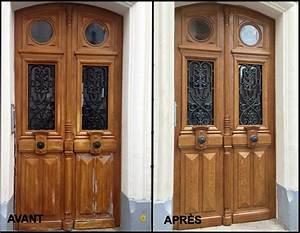 peindre une porte d entree en bois sedgu plans With peindre des portes en bois