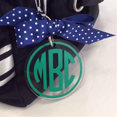 circle monogram bag tag personalized accessories monogrammed bag tags monogram bag