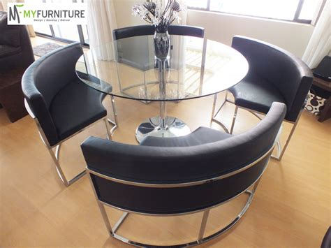 Hideaway Table And Chairs Ebay by Hideaway Glass Dining Table And Black Chair Set Ebay