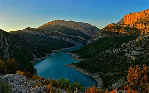 congost river mountain range spain wallpapers hd wallpapers