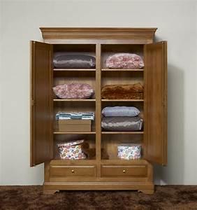 Petite Armoire De Rangement : petite armoire 2 portes eric en ch ne massif de style ~ Dailycaller-alerts.com Idées de Décoration