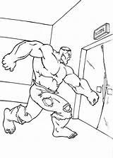 Hulk Coloring Elevator Door Pages Punching Incredible Netart Printable Template Sketch sketch template