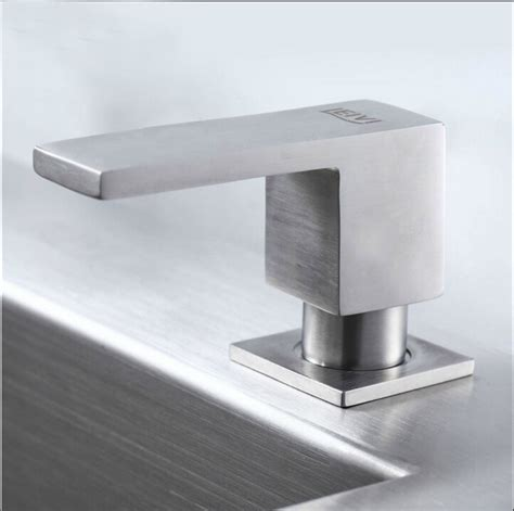 stainless steel soap dispenser for kitchen sink square stainless steel soap dispenser fit for kitchen sink 9784