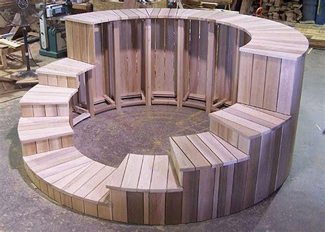 diy tub plans wood hot tub surrounds pinteres