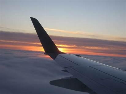 Plane Wing Airplane Sunset Flight Wallpapers Graduan