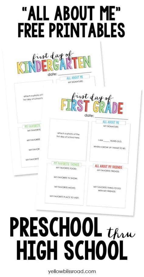 ultimate guide    school printables