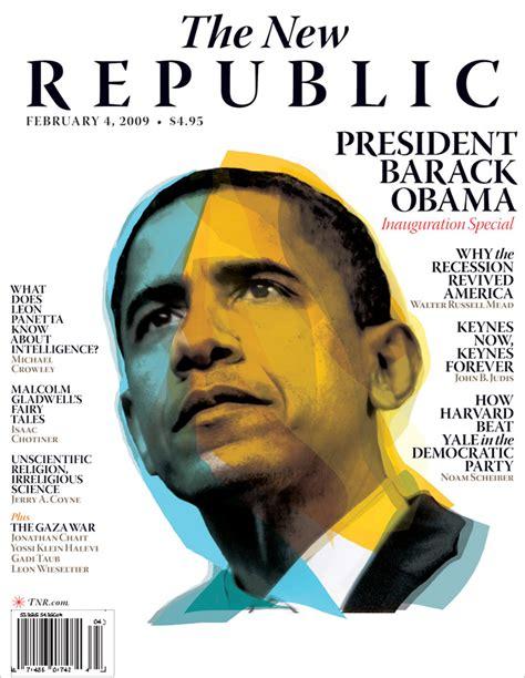 The New Republic Cover Clip Barack Obama By Bryce Vickmark