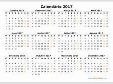 Calendário 2017 WikiDatesorg