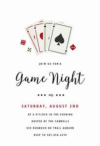 Sample Rsvp Wedding Cards Poker Game Night Sports Games Invitation Template