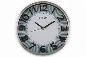 Horloge Murale Blanche : horloge murale blanche contour gris horloge ~ Teatrodelosmanantiales.com Idées de Décoration