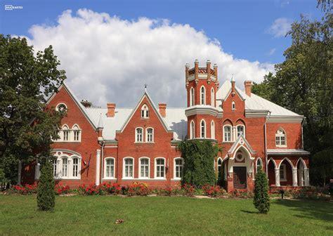 Vecsalienas (Červonkas) muižas pils - Latvijas skatkartes