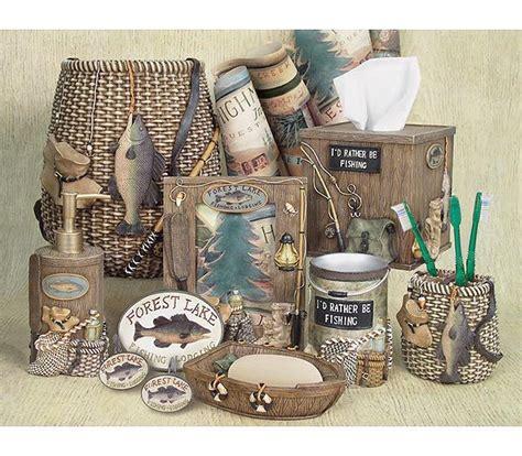 Rustic Bathroom Accessories Sets by Fisherman S Bathroom Decor Fishing Lodge Bathroom