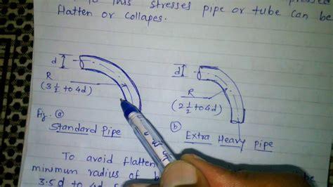 minimum radius  pipe  tube bending youtube